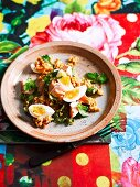 Brown rice kedgeree with salmon and egg