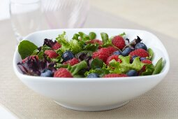 Organic Salad of Mixed Greens, Raspberries and Blueberries