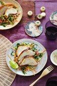 Roast chicken with coleslaw