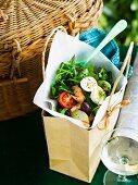 Salad niçoise for a picnic