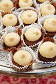 Mini Pumpkin Cupcakes with with Vanilla Cream Filling