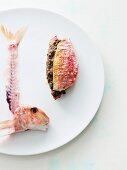 Red mullet sandwich with tapenade