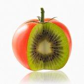 Mixture of tomato and kivi fruit