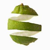 Studio Shot of lime peel