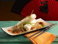 Spring rolls on glass noodles