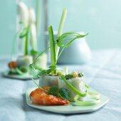 Spring rolls with shrimp