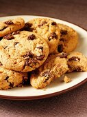 Nut cookies with chocolate chips