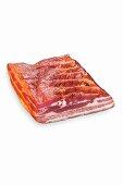 Raw smoked streaky bacon