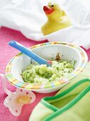 Courgette and potato baby food