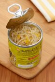 Bean sprouts in a tin