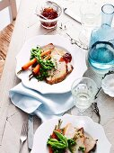 Turkey breast stuffed with aromatic couscous