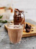 Chocolate and peanut smoothie