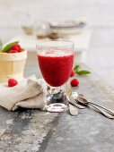 A raspberry and orange shake