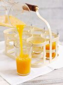 Carrot and orange drink with ginger