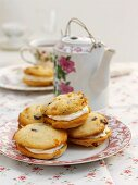Chocolate and apricot Whoopie Pies