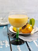 Fruit cocktail with orange, sharon fruit and grapefruit