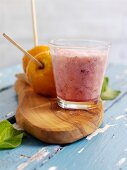 Pomelo and plum drink