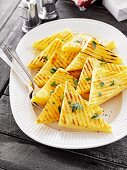 Grilled polenta triangles