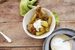 Chile verde with chicken and sour cream