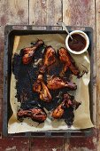 Memphis drumsticks with barbecue sauce