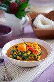 Chickpea curry with sweet potatoes