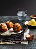 Deep fried mozzarella balls