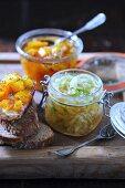 Fennel chutney and pumpkin orange chutney