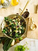 Chard with pine nuts and raisins
