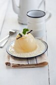White peach jelly with white chocolate