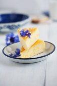 Cheesecake with semolina and cornflowers
