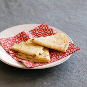 Quesadillas (tortillas filled with cheese, Mexico)