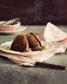 Chocolate ice cream dessert
