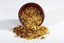 A ready-made mix of bulgur with dried vegetables and spices