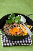 Lentils with carrots and fennel