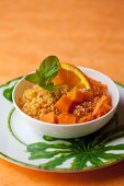 Lentil salad with carrots and sesame