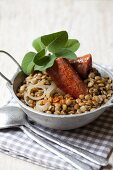 Lentils with sausages