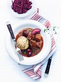 Beef goulash with plums