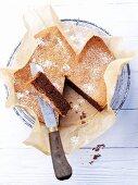 Dolce al cioccolato e mandorla (almond and chocolate torte, Italy)