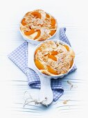 Apricot bake with sliced almonds
