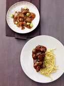 Goose breast and boar ragout
