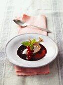 Berry soup with quark dumplings