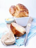 Buttermilk bread on a cutting board