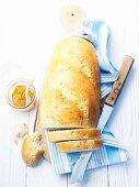 White bread and marmalade