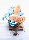 Ciabatta in a bread basket