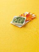 Spinach Artichoke Dip with Veggie Sticks