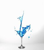 Blue Curaçao cocktail with a splash
