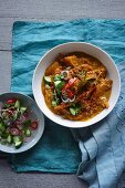 Pumpkin curry with sweet potatoes