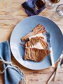 Walnut oil parfait with barley crisp bread