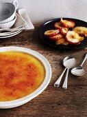 Crème brûlée with Sauternes apples