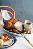 Roast chicken and gravy